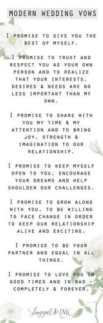 wedding photo - Modern Wedding Vows You'll Want To Steal!