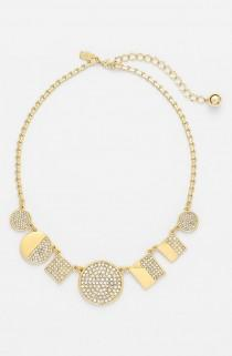 wedding photo - Such A Sparkly Necklace! This Kate Spade Crystal And Gold Beauty Is On The Wishlist.