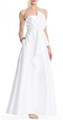 wedding photo - Adrianna Papell Mikado Strapless Bow Gown #dillards #ad