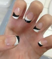 wedding photo - Black And White Nail Designs 2014