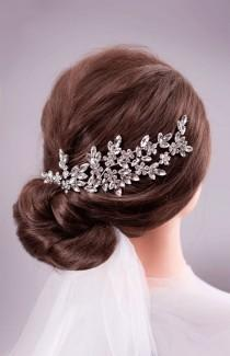 wedding photo - Wedding Hair Accessories Bridal Hair Piece Wedding Headband Bridal Back Headpiece Crystal Hairpiece Rhinestone Headpiece Bridal Hair Jewelry