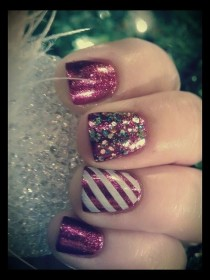 wedding photo - Nail Designs For Christmas♥ I Love It! By Jennifer O. Pineda
