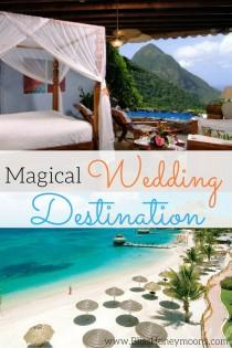 wedding photo - High On Our List Of Magical Beach Side Wedding Locales Is The Island Of St. Lucia. With The Gorgeous Blues Dominating The Landscape And Sounds Of T…