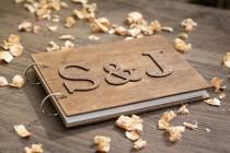 wedding photo - Guest Book, Wood Wedding Guestbook, Rustic Wedding Guestbook, Guest Book Personalized, Customized