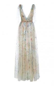 wedding photo - Embroidered V-Neck Gown By Monique Lhuillier