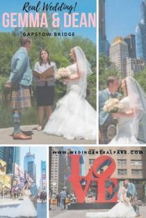 wedding photo - Gemma And Dean's Gapstow Bridge Elopement