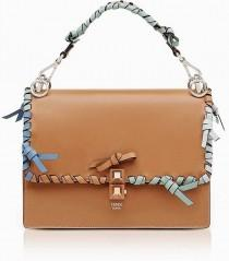 wedding photo - Fendi Kan I M Orzo Leather Lace Up Top Handle Shoulder Bag Leather Handbags And Purses