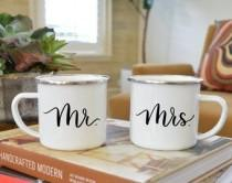 wedding photo - Mr. & Mrs. Calligraphy Mug