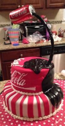 wedding photo - Coke Cake