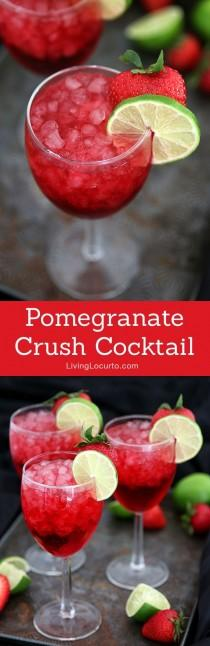 wedding photo - A Tasty Pomegranate Cocktail Drink For Your Next Party! You'll Crush On This Delightful Mixture Of Pomegranate Soda, Coconut Rum, Ginger Ale And Pe…