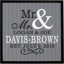 "wedding photo - Personalized Happy Couple 11"" Canvas Print"