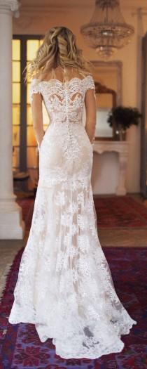wedding photo - Nektaria -Detachable Train Long Sleeves Wedding Dress