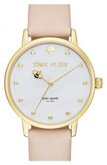 wedding photo - Kate Spade New York 'metro - Honeybee' Leather Strap Watch, 34mm Available At #Nordstrom