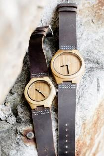 wedding photo - Couples Wooden Watches // Boyd Blue