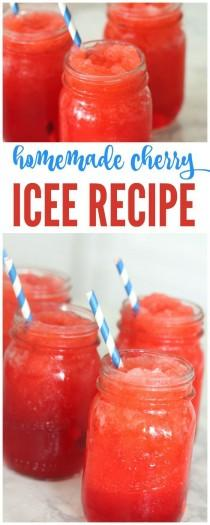 wedding photo - YUM! I Have A Delicious Homemade Cherry Icee Recipe For Summer That You're Sure To Love And So Will The Kids! This Is The Perfect Summer Icee That …