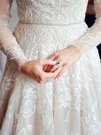 wedding photo - Glam Amethyst Country Club Wedding