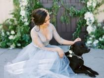 wedding photo - Bride   Dog Wedding Photo Idea - Wedding Dog {Los Robles Greens}
