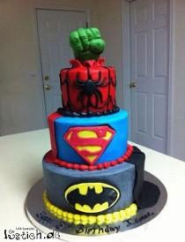 wedding photo - Superhelden Kuchen
