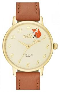 wedding photo - Kate Spade New York Kate Spade New York 'metro - Wild One' Leather Strap Watch, 34mm