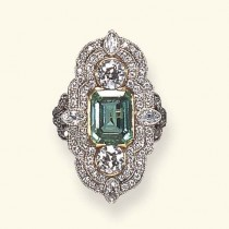 wedding photo - Belle Epoque Emerald Ring. Auctioned At Christie's For $16,000