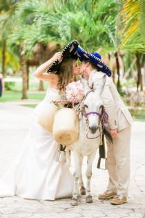 wedding photo - Fun Wedding Animal Idea - Donkey At Wedding {Shannon Skloss Photography}