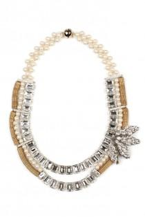 wedding photo - Tataborello Crystal Cream Necklace