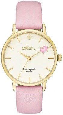 wedding photo - Kate Spade Metro Pigs Can Fly Leather-Strap Watch
