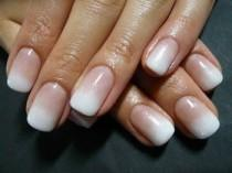 wedding photo - Ombre French Manicure - Like- I Luv This..and I Asked For This At The Nail Place- They Could Do Other Colors..but They Can't Do This.....say Wh…