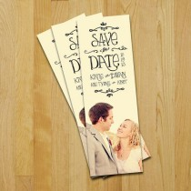 wedding photo - Http://www.etsy.com/listing/77010357/save-the-date-bookmark-sunnyside-wedding?ref=cat1_gallery_37