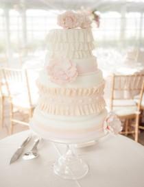 wedding photo - #Ruffled #wedding #cake