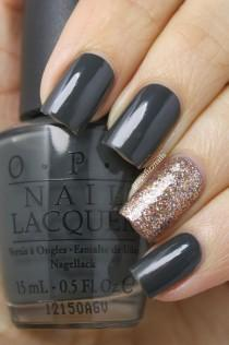 wedding photo - Grape Fizz Nails: OPI Nein! Nein! Nein! OK Fine! And Bring On The Bling