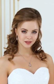 wedding photo - PALLAS Starfish Earrings Beach Wedding Bridesmaid Jewelry Gift Set