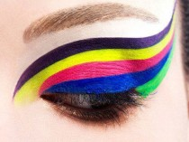 wedding photo - Try An Everyday Stacked Liner Look:    Pick Just 2 Bright Colors And Wing Them Out Above Eachother On Your Upper Lid.  Line Right Above Your …