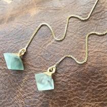 wedding photo - Fluorite Threader Earrings