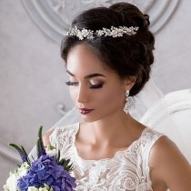 wedding photo - ⠀✽Would You Like To Add A Gentle Touch Of Radiant Flowers To Your Hairdo? Consider Getting The Dazzling DORCIA Bridal Headpiece On A…