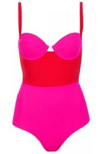 wedding photo - Red Colourblock Swimsuit - Swimsuits - Swimwear  - Clothing