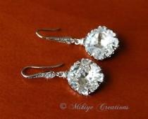wedding photo - Chandelier Swarovski Crystal Earrings $35