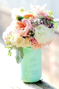 wedding photo - As Seen In Smitten Magazine Mint And Blush SPRING By BeachBlues