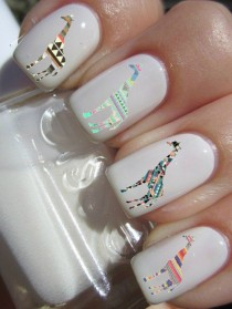 wedding photo - Tribal Giraffe Nail Decals On Etsy, $4.50