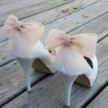 wedding photo - Shoe Clips, Shoe Clips Wedding, Shoe Clips Bridal, SHoe Clips Bows, Shoe Clip Ons, Shoe Clips Wedding Shoes, Shoe Clips Champagne, Shoe Ons
