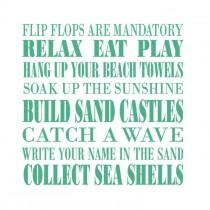 wedding photo - Beach Rules Vinyl Decal, Beach Wall Decal, Beach Decor, Beach Vinyl Wall Decal Words, Beach Sticker, Beach House Decorations, Window Decals
