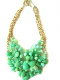 wedding photo - Mint Green Grapes Necklace$285