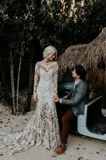 wedding photo - Blissful Boho Tulum Destination Wedding At Papaya Playa Project