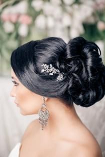 wedding photo - Wedding Hairstyles: 26 Perfect Wedding Hairstyles With Glam
