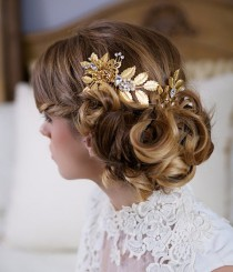 wedding photo - Vintage Updo With Accessory From Gilded Shadows