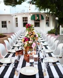 wedding photo - Big Black And White Stripes.
