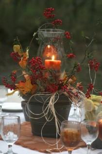 wedding photo - 50  Vibrant And Fun Fall Wedding Centerpieces