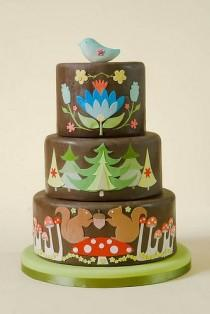 wedding photo - OMG, This Is Too Cute.  Woodland Cake.  Where Can I Find A Bakery That Can Make This?