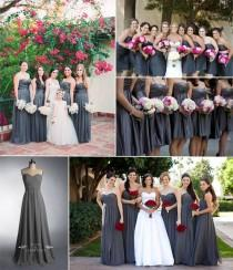 wedding photo - We Love Grey Bridesmaid Dresses In 2014