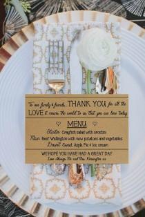 wedding photo - Personalisierte Hochzeitsmenü Und Von PrettyLaneWeddings Auf Etsy